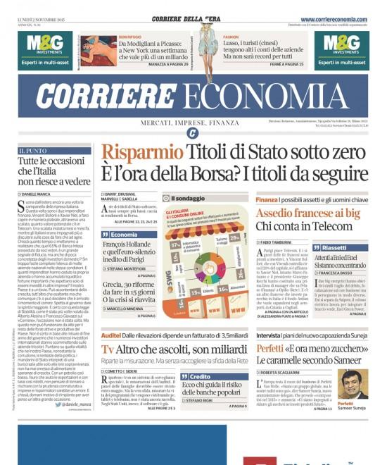 Corriere Economia nov 2015