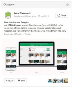 Google Plus Post