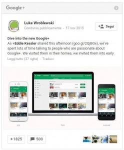 Google Plus Post